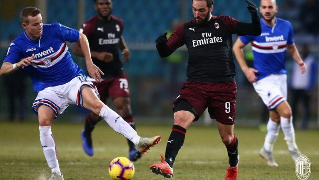 AC Milan baru saja berhasil menaklukan Sampdoria dengan skor akhir 2 - 0 pada laga perdelapan final ajang Coppa Italia